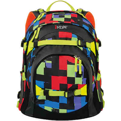 iKON Schulrucksack Colour Checks