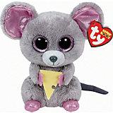 "Мягкая игрушка ""Мышонок Squeaker с кусочком сыра, 15 см"", Beanie Boo's, Ty"