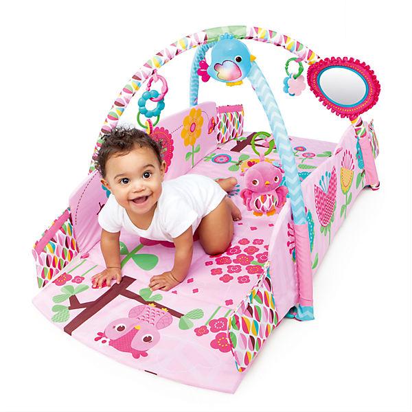 bright starts pretty in pink spieldecke mit bogen bright starts mytoys. Black Bedroom Furniture Sets. Home Design Ideas