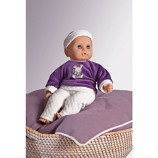 Babypuppe mit lila Outfit, 32 cm
