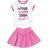 Комплект: футболка и юбка для девочки PlayToday