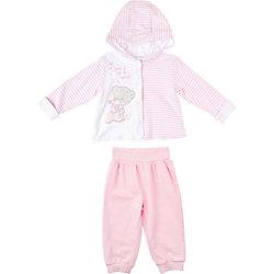 Комплект: футболка с длинным рукавом и брюки для девочки PlayToday