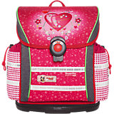 Schulranzenset ERGO Light 912 Hearts mit Blinkfunktion, 4-tlg.