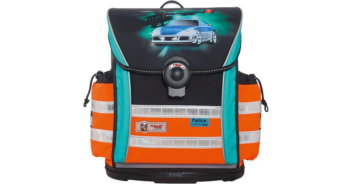 Schulranzenset ERGO Light 912 DIN Police mit Blinkfunktion, 4-tlg.