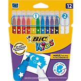 Фломастеры Bic Magic смываемые (10 цветов + 2 обесцвечивающих)