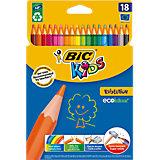 Карандаши цветные BIC Evolution, 18 цветов
