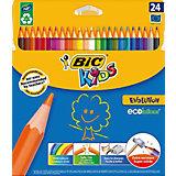 """Цветные карандаши  """"Evolution Kids"""", 24 цв., BIC"""
