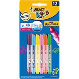 Фломастеры BIC Mini Kid Couleur, 12 цветов