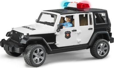 BRUDER 2526 Jeep Wrangler Unlimited Rubicon mit Polizei 1:16