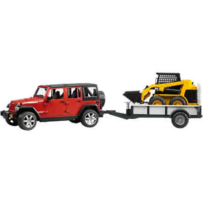BRUDER 2925 Jeep Wrangler Unlimited Rubicon mit CAT 1:16