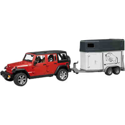 BRUDER 2926 Jeep Wrangler Unlimited Rubicon mit Pferd