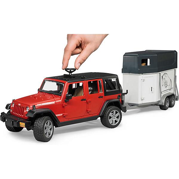bruder 2926 jeep wrangler unlimited rubicon mit pferd. Black Bedroom Furniture Sets. Home Design Ideas