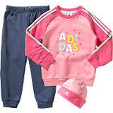 adidas Performance Baby Jogginganzug + Mütze für Mädchen