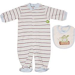 Комплект для мальчика: комбинезон и нагрудник для мальчика Hudson Baby