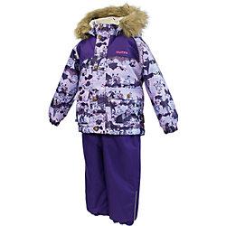 Комплект для девочки: куртка и полукомбинезон Huppa