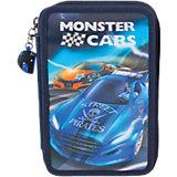Federtasche Monster Cars, 3-fach, sortiert