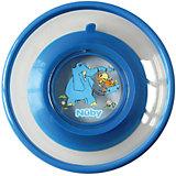 Тарелка на присоске, Nuby, синий