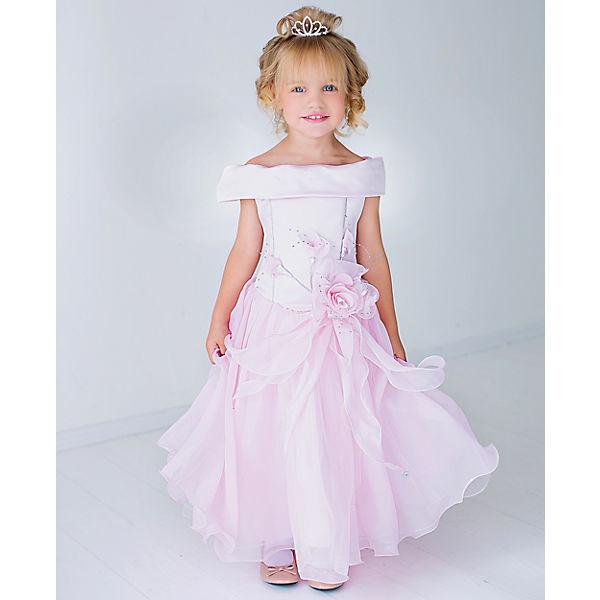 Нарядное платье Шармель - розовый