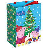 """Пакет подарочный """"Пеппа зимой"""" 23*18*10 см, Свинка Пеппа"""
