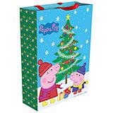 """Пакет подарочный """"Пеппа зимой"""" 35*25*9 см, Свинка Пеппа"""
