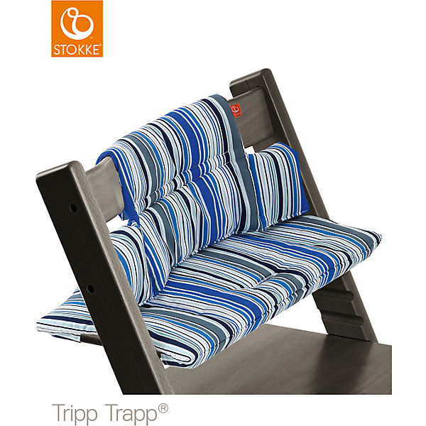 tripp trapp sitzkissen ocean stripe stokke mytoys. Black Bedroom Furniture Sets. Home Design Ideas