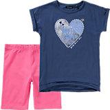 Set T-Shirt + Shorts für Mädchen