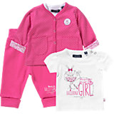 Baby Set Sweatjacke + Sweathose + T-Shirt für Mädchen