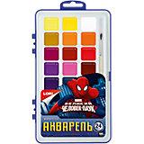 """Краски акварельные с кистью """"Человек-паук"""", 24 цв."""