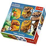 """Набор пазлов """"Хороший Динозавр"""", 35*48*54*70 деталей, Trefl"""