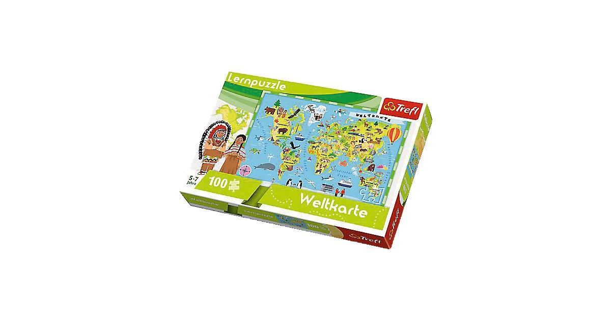 Lernpuzzle 100 Teile - Weltkarte