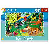 Пазлы Trefl Тропические джунгли, 15 элементов