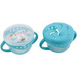 Тарелка с двумя крышками Comfy Plate, Happy Baby, голубой