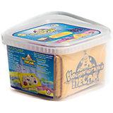 Набор космического песка с песочницей и формочками, 1 кг, голубой