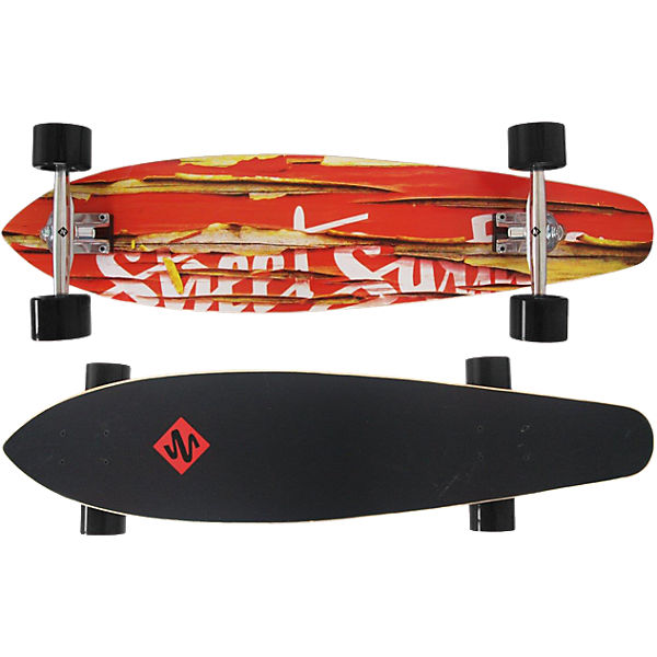 "Streetsurfing Longboard Kicktail 36"" - Damaged Orange"