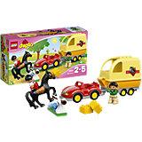 LEGO 10807 DUPLO Wagen mit Pferdeanhänger
