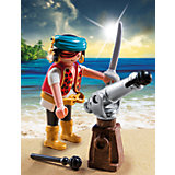 RU Экстра-набор: Пират с пушкой Playmobil