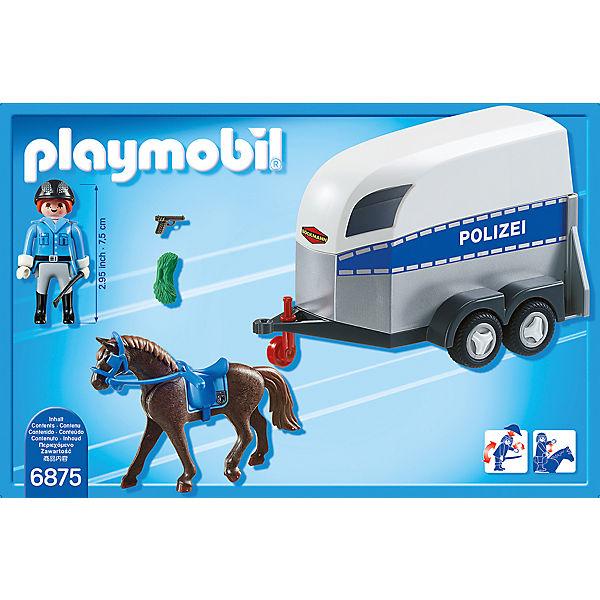 playmobil 6875 berittene polizei mit anh nger playmobil mytoys. Black Bedroom Furniture Sets. Home Design Ideas