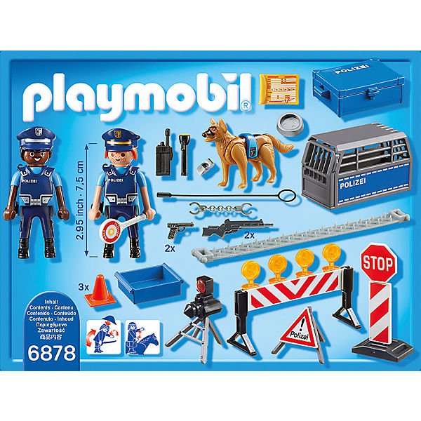 playmobil 6878 polizei stra ensperre playmobil city action mytoys. Black Bedroom Furniture Sets. Home Design Ideas