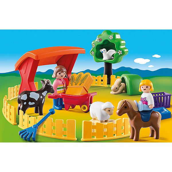 Playmobil 6963 1 2 3 streichelzoo playmobil mytoys for Kinderzimmer play 01