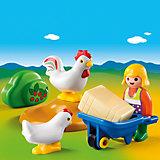 PLAYMOBIL® 6965 1-2-3: Bäuerin mit Hühnern