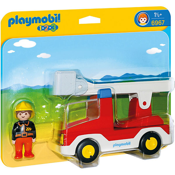 playmobil 6967 1 2 3 feuerwehrleiterfahrzeug playmobil 1 2 3 mytoys. Black Bedroom Furniture Sets. Home Design Ideas