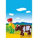 PLAYMOBIL® 6972 1-2-3: Bauer mit Kuh
