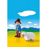 PLAYMOBIL® 6974 1-2-3: Schäfer mit Schaf