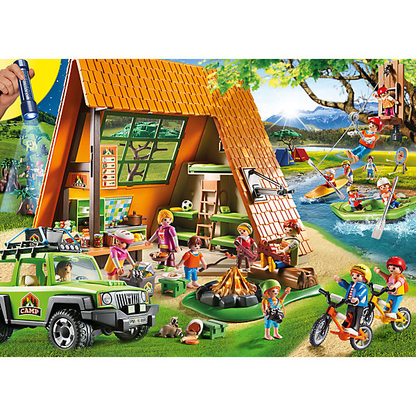 playmobil 6888 zeltlager mit led lagerfeuer playmobil mytoys. Black Bedroom Furniture Sets. Home Design Ideas