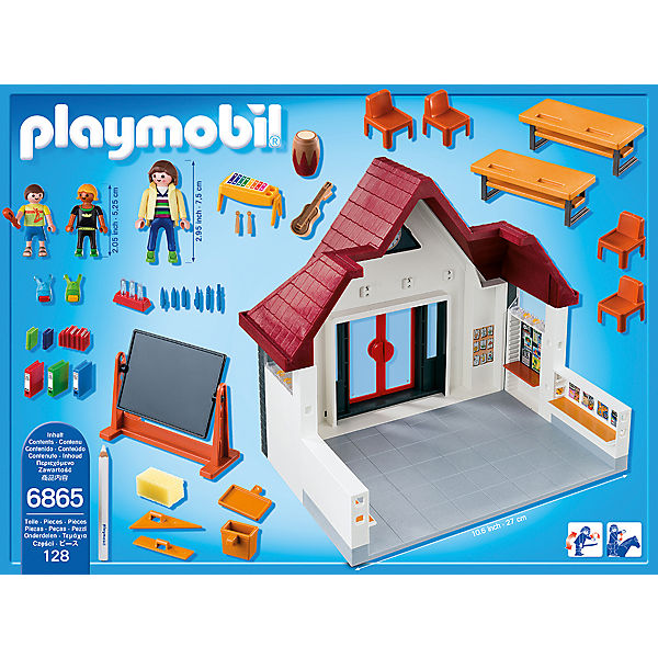 Playmobil 6865 schulhaus aktionsartikel playmobil city for Salle a manger playmobil city life