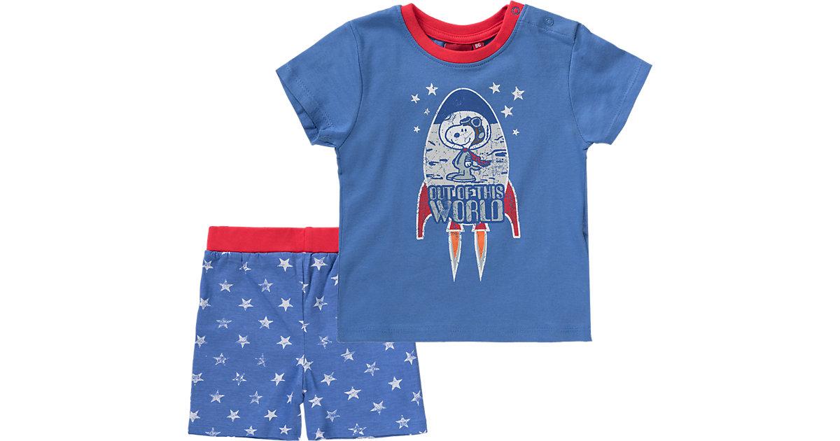 SNOOPY Schlafanzug blau Gr. 110 Jungen Kleinkinder