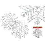 """Украшение """"Снежинка с блестками"""" (диаметр 28 см)"""