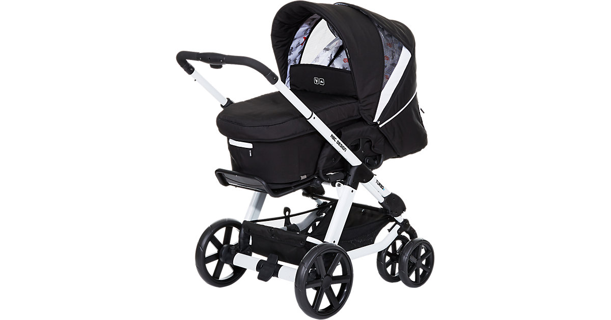 ABC Design Kombi Kinderwagen Turbo 6, stream, 2016 schwarz