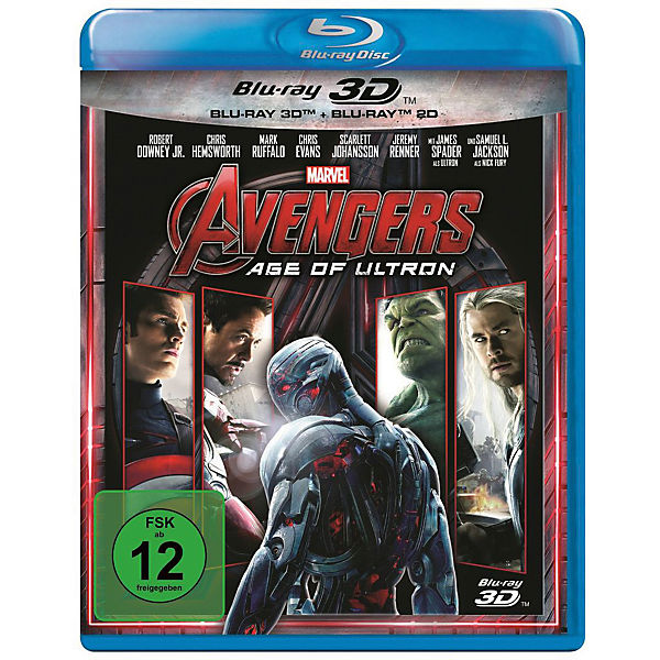 BLU-RAY Avengers - Age of Ultron (3D + 2D)