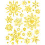"""Украшение на окно """"Золотые снежинки"""" 30*38 см"""